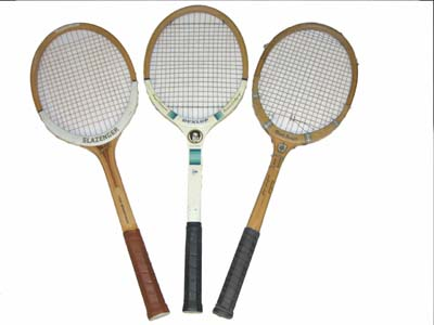 wooden racket