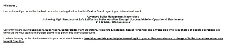 Who is responsible for boilers? Are you serious?