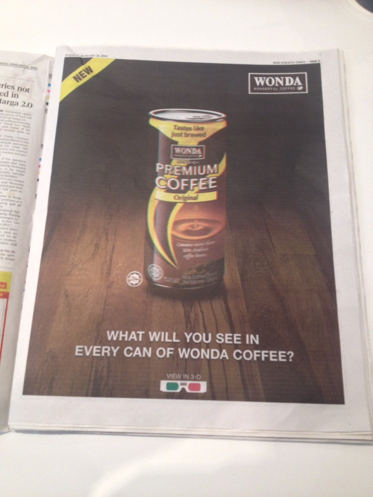 Typical Wonda print ad