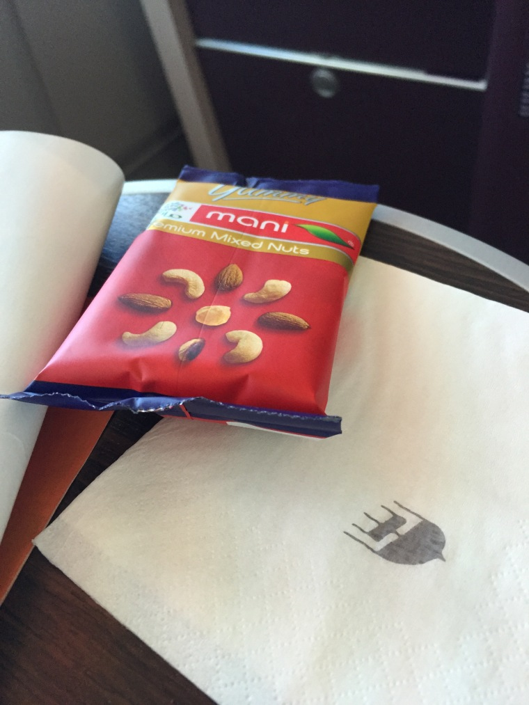 The current snack offering to Malaysia Airlines business class passengers on the A380