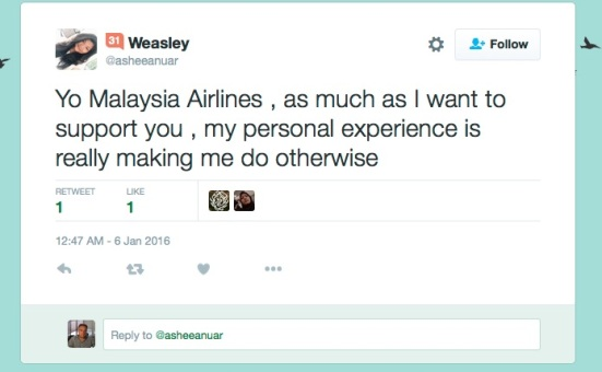 Malaysia Airlines - is this how you restore confidence in an airline?
