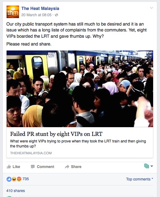 Once the story gained traction online, instead of participating, Rapidkl went awol