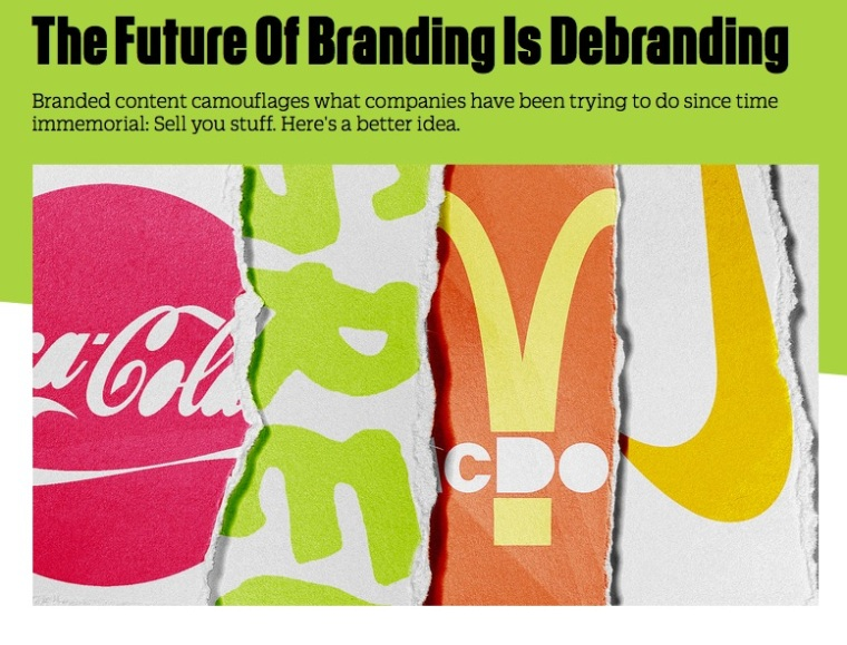 The future of branding is debranding? Well maybe, but not if we're starting from the wrong place