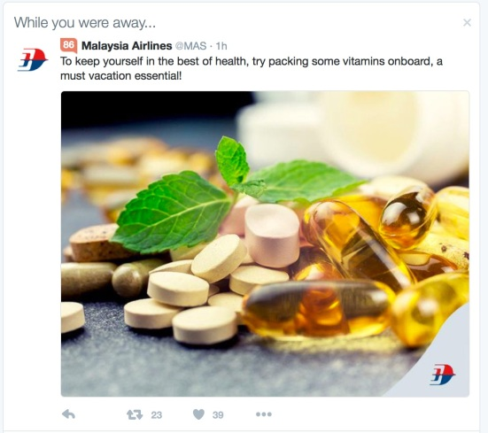This Malaysia Airlines Twitter ad is nonsense