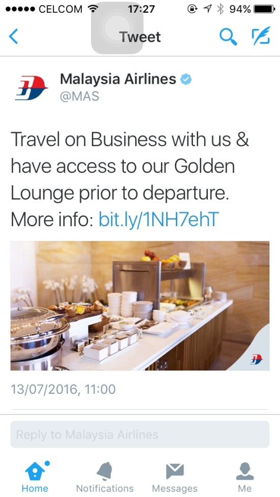 why would anyone share this pointless tweet from Malaysia Airlines?
